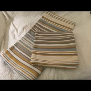 BEAUTIFUL STRIPPED PILLOW COVERS-NEW! NEVER USED!